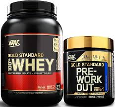 optimum nutrition gold standard whey protein pre workout stack