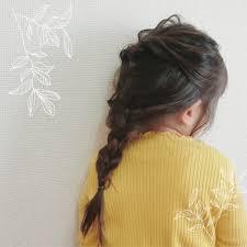 娘のヘアアレンジラプンツェル風ちょっと雑すぎたかなまぁ