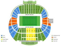 University Of Oregon Football Stadium Seating Chart Arizona Wildcats Vs Oregon Ducks Football At Autzen Stadium