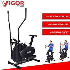 vigor elliptical trainer orbitrac 2 in 1 exercise bike