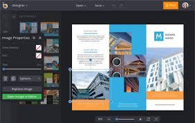 tri fold maker brochure maker befunky free online brochure templates