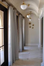 hallway barrel ceiling with brass