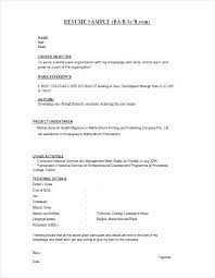 resume format for fresher standard resume template for freshers layout regarding spacesheep co