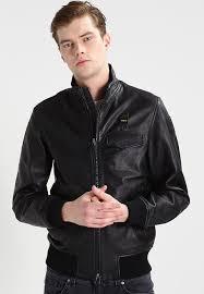 blauer leather jacket black black men s jackets premier fashion designer uk official