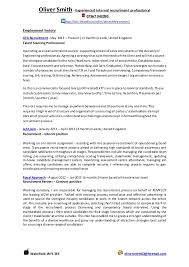 Recruitment Cv Oli Smith 2014 Cv Recruitment Expert