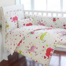 super cute pink elephant 10 piece crib bedding sets