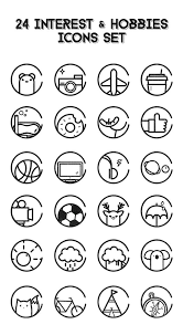 Hobby And Interest In Resume Free 24 Interest Hobbies Icons On Behance Con Pinterest