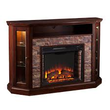 w corner convertible media electric fireplace in espresso