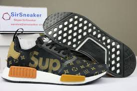 louis vuitton x adidas. authentic supreme x louis vuitton adidas nmd r1 boost t