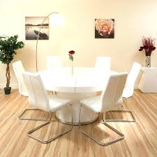 modern white gloss dining table and chairs round