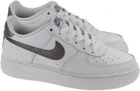 nike shoes air force white. nike shoes junior air force 1 summit white metallic pewter