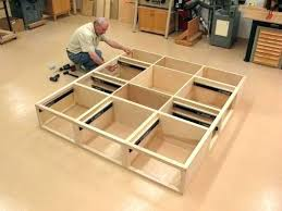 king storage bed plans. Gorgeous Plans For Platform Bed Storage With King Adorable Woodworking . P