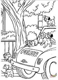 dalmatians on a police car dalmatian lucky plays with erfly from 101 dalmatians