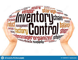 Word Inventory Inventory Control Word Cloud Hand Sphere Concept Stock