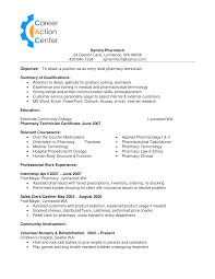 Pharmacy Tech Resume Template Pharmacy Technician How To Draft A Pharmacy Technician