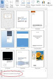 Word Template Cover Page How To Create A Cover Page In Microsoft Word 2013