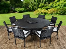 random 2 round rattan garden table and roma 8 and large round table and lazy susan set black and vanilla01 1 random 2