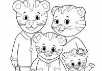 Daniel Tiger Christmas Coloring Page With And Friends Pages 2018