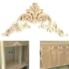 Appliques for furniture French Provincial Carved Wood Appliques Furniture Applique Home Decoration Accessories Woodcarving Corner Decal Wooden Decor Frame Wall Door Xyxal Carved Wood Appliques Xyxal