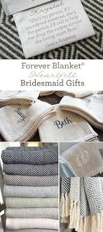 amazingly sentimental bridesmaid gifts from swell forever forever blanket throws unique message s