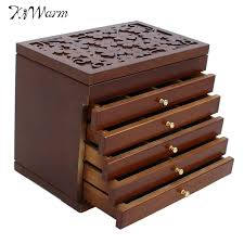Large Wooden Boxes To Decorate KiWarm Retro 100Layers Large Vintage Retro Classic Wooden Jewellery 50