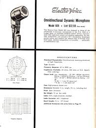 electro voice microphone and speaker catalog 1957