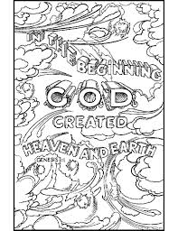Days Of Creation Coloring Pages 68 With 5 Futuramame