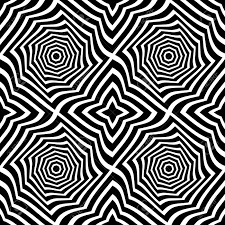 Abstract Art Black And White Patterns Vector Modern Seamless Geometry Pattern Trippy Black And White