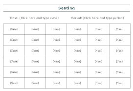 Excel Seating Chart Template Wedding Classroom Seating Chart Template Excel