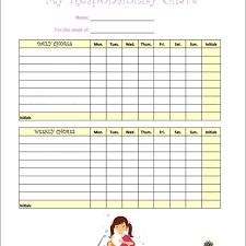 Editable Chore Chart For Adults 7 Kids Chore Chart Templates Free Word Excel Pdf