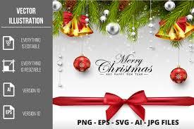 Merry Christmas Happy New Year Vector Graphic By Artnovi Creative Fabrica