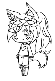 You can use our amazing online tool to color and edit the following wolf coloring pages for kids. Chibi Wolf Girl Coloring Page Free Printable Coloring Pages For Kids