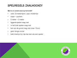 spelregels zaalhockey