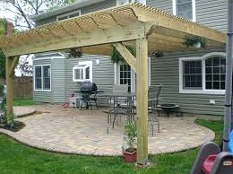 covered stamped concrete patio. Stamped Concrete Patio With Pergola How To Build A On  Unique . Covered