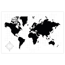 map of the world poster ikea