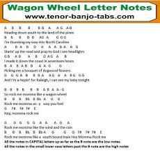 wagon wheel sheet music wagon wheel banjo mandolin tab letter notes tenor banjo tabs