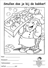 Kleurplaat Thema Bakker Thema Bakker Kleuters Theme Baker