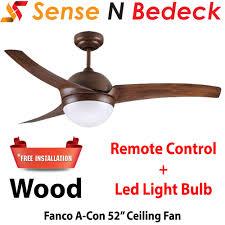 fanco acon 52 ceiling fan free led bulb installation