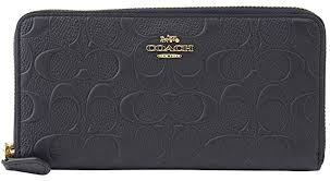COACH SIGNATURE EMBOSSED ACCORDION WALLET ZIP