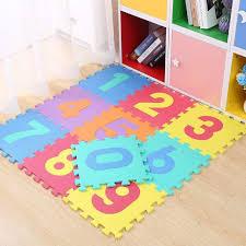 10 pieces puzzle mat numbers 30x30cm multicolor