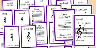 Musical Notation Cards Music Notes Musical Notation