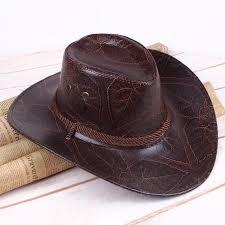 men women western artificial leather cowboy knight hat outdoor wide brimmed hat cod