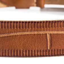 leather jeans belt full grain leather cognac mens sizes 30 44in