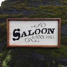 Wood Address Signs Outdoor Decor Saloon Pool Hall sign Handmade Wood Signs Western Decor 19
