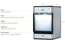 pellet ice machine. Beautiful Ice Refrigerators With Nugget Ice Makers Refrigerator That Makes  Portable Machines Opal  Throughout Pellet Ice Machine E