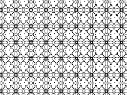 free vector black and white fl pattern