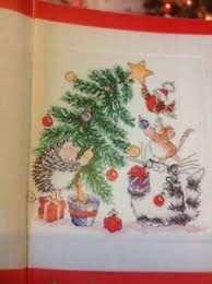 Christmas Chart Images Details About X5 Margaret Sherry Cat Mouse Hedgehog Robin Tree Christmas Cross Stitch Chart