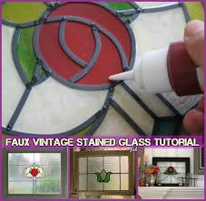 how to faux stain glass window diy faux vintage stained glass tutorial