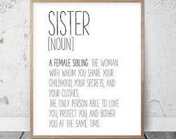 Meaningful Sister Quotes Fascinating Sister Quotes Etsy
