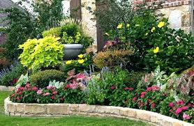 decoration small flower bed ideas for front of house garden plans mesmerizing colourful round flowering